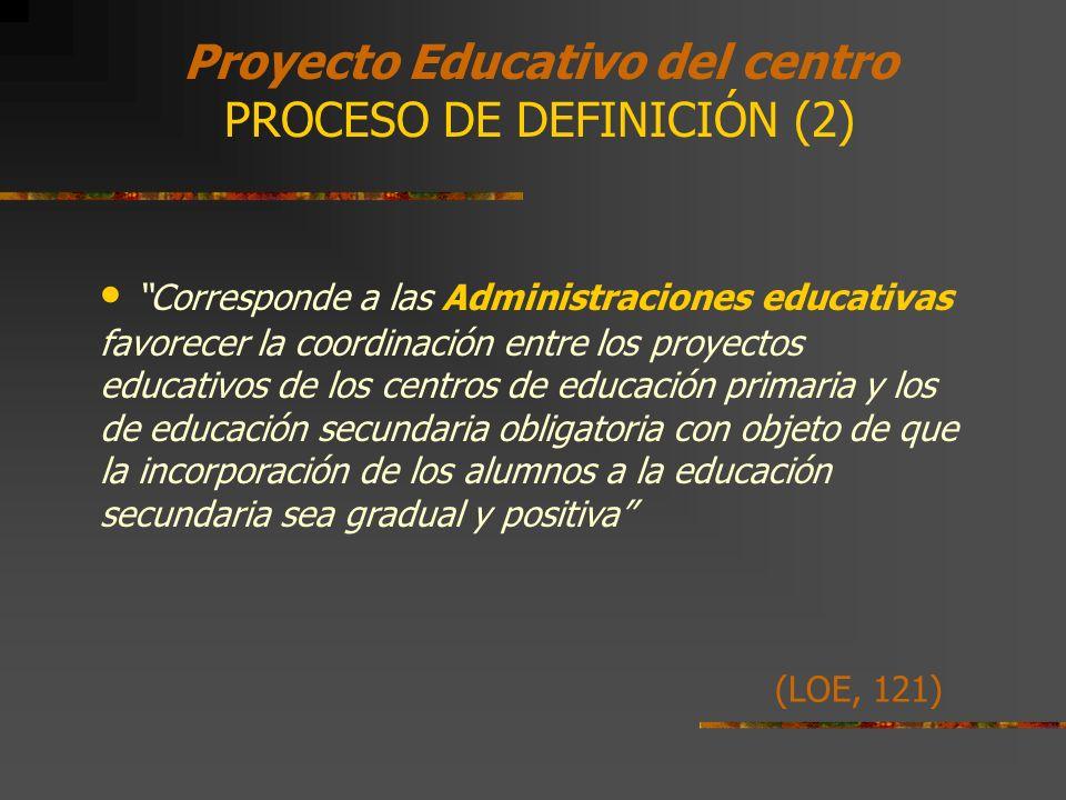 Proyecto Educativo del centro