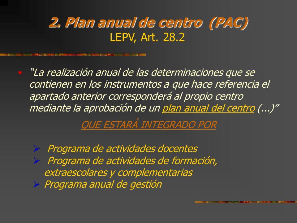 2. Plan anual de centro (PAC)