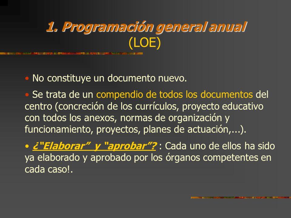 1. Programación general anual (LOE)