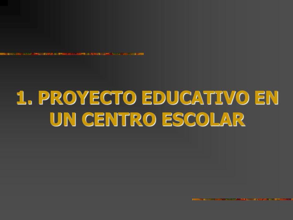 1. PROYECTO EDUCATIVO EN UN CENTRO ESCOLAR