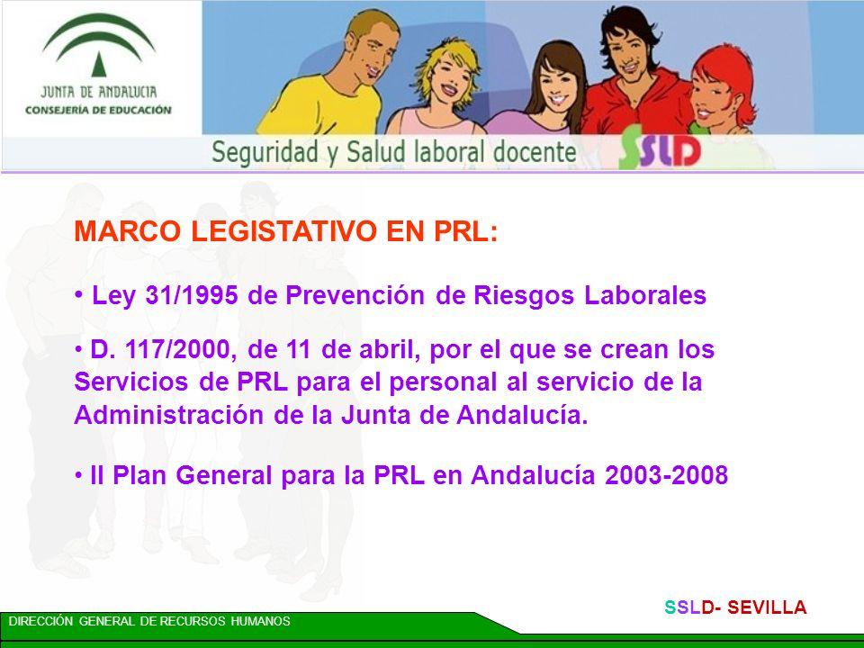 MARCO LEGISTATIVO EN PRL: