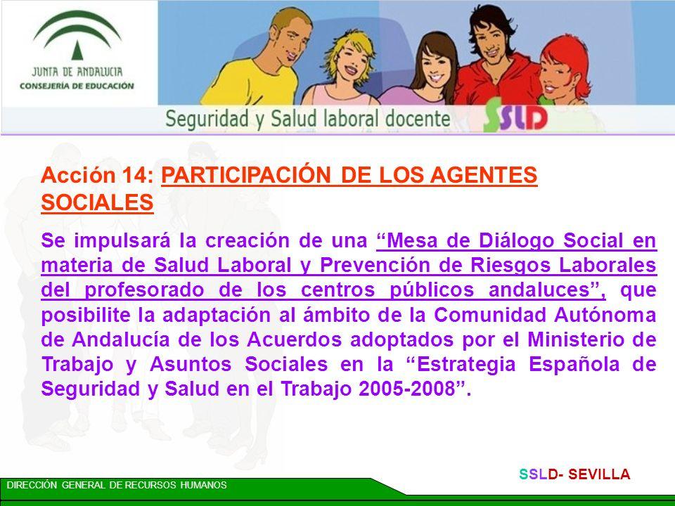Acción 14: PARTICIPACIÓN DE LOS AGENTES SOCIALES