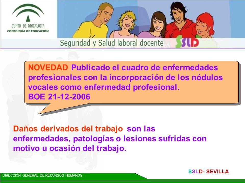 NOVEDAD Publicado el cuadro de enfermedades profesionales con la incorporación de los nódulos vocales como enfermedad profesional.