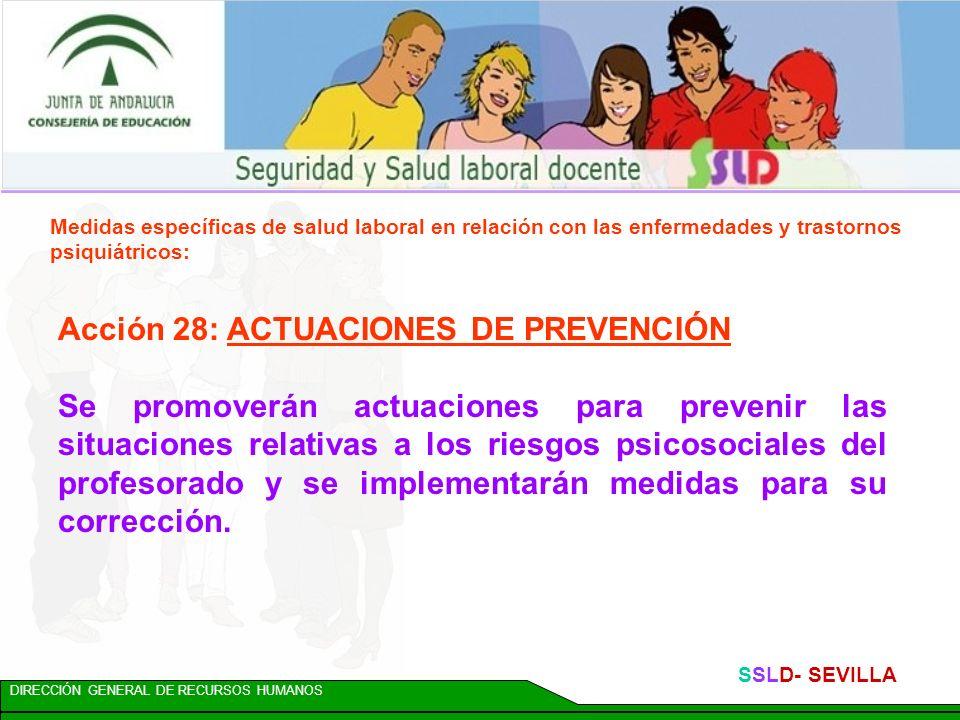 Acción 28: ACTUACIONES DE PREVENCIÓN