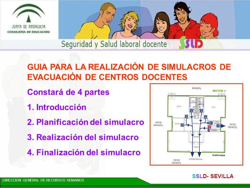 2. Planificación del simulacro 3. Realización del simulacro