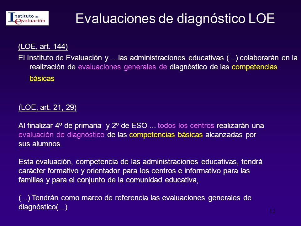 Evaluaciones de diagnóstico LOE