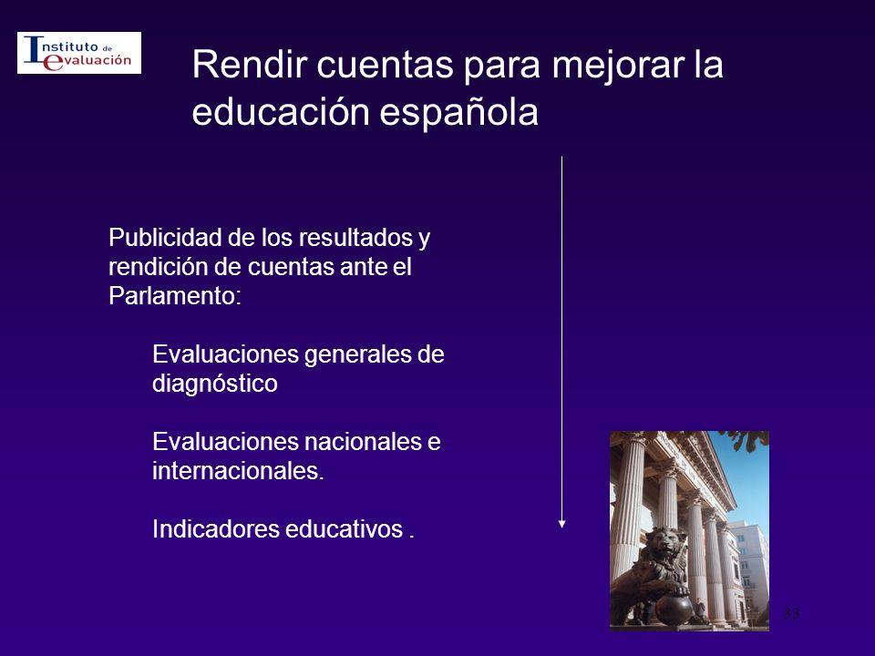 Rendir cuentas para mejorar la educación española