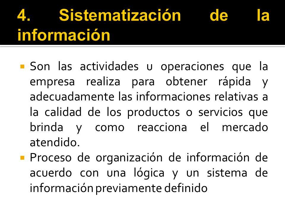 4. Sistematización de la información
