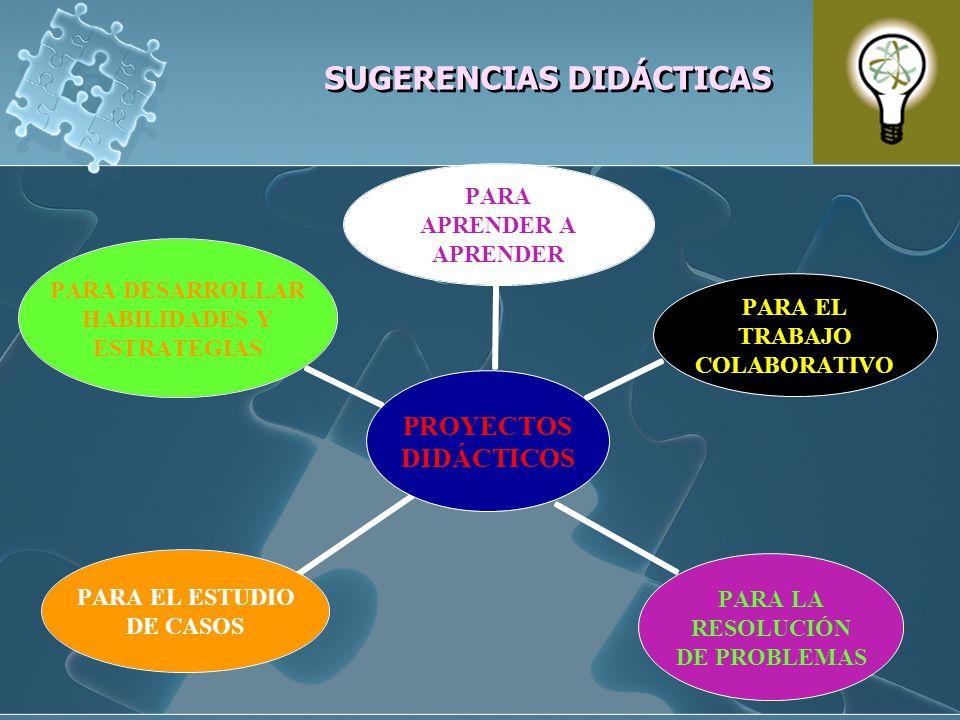 SUGERENCIAS DIDÁCTICAS