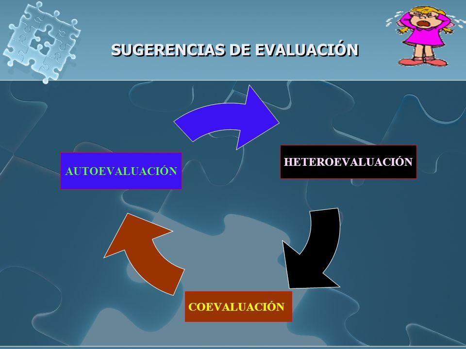 SUGERENCIAS DE EVALUACIÓN