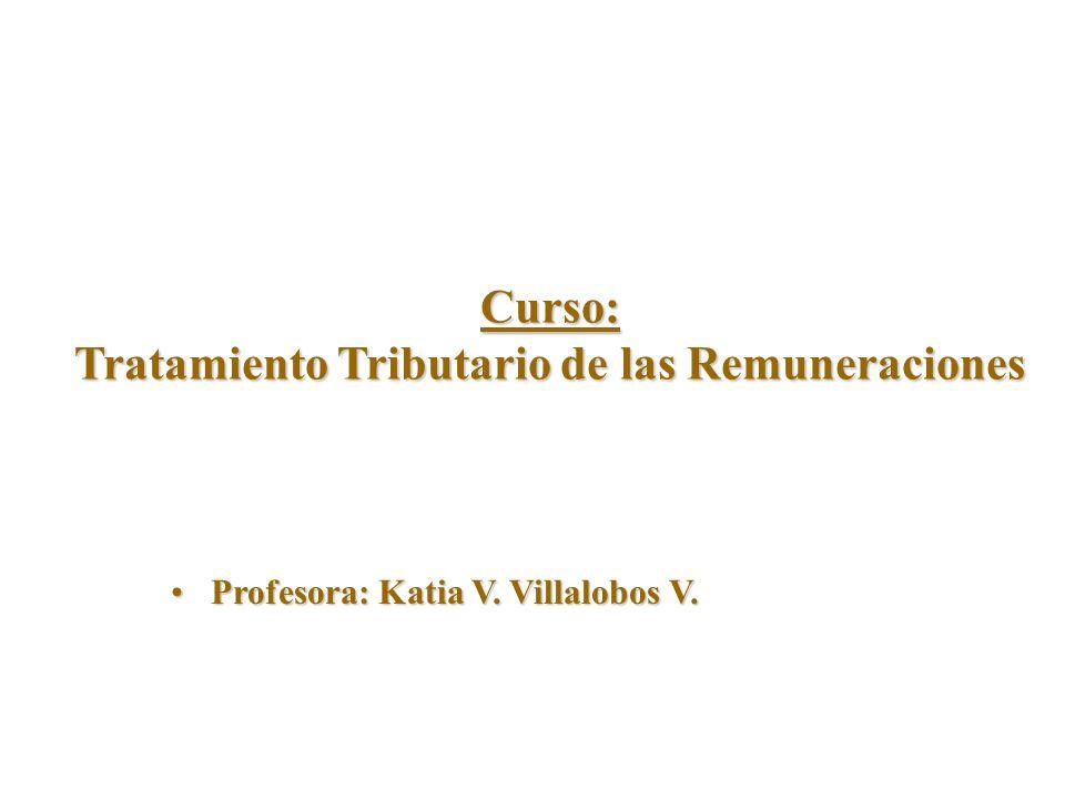 Curso: Tratamiento Tributario de las Remuneraciones