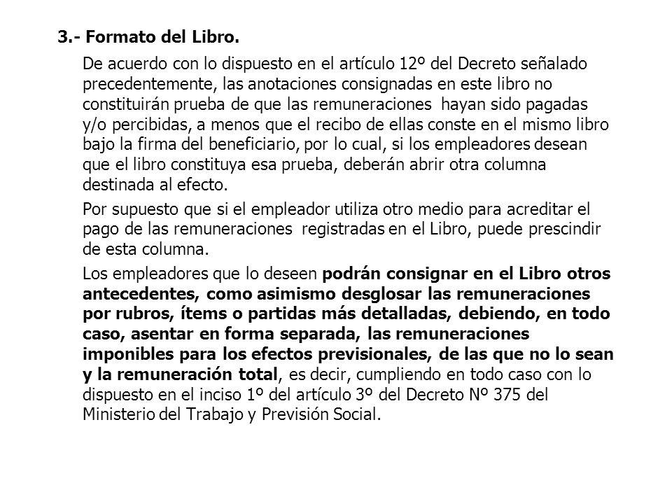 3.- Formato del Libro.