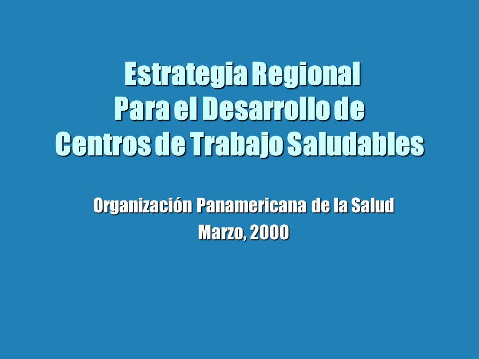 Organización Panamericana de la Salud Marzo, 2000