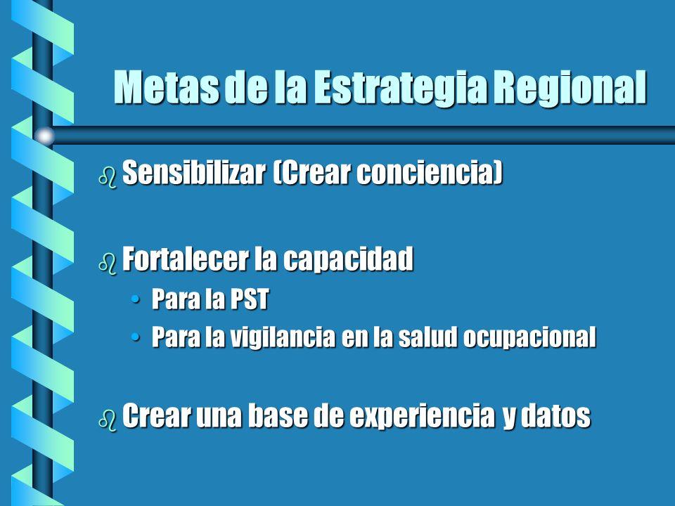 Metas de la Estrategia Regional