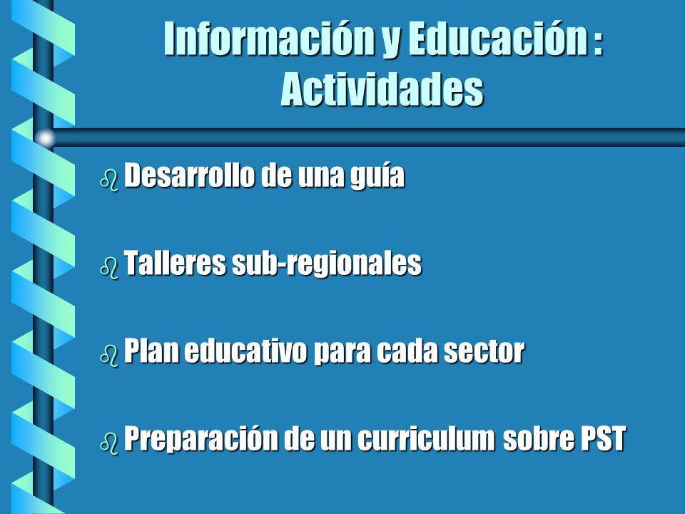Información y Educación : Actividades