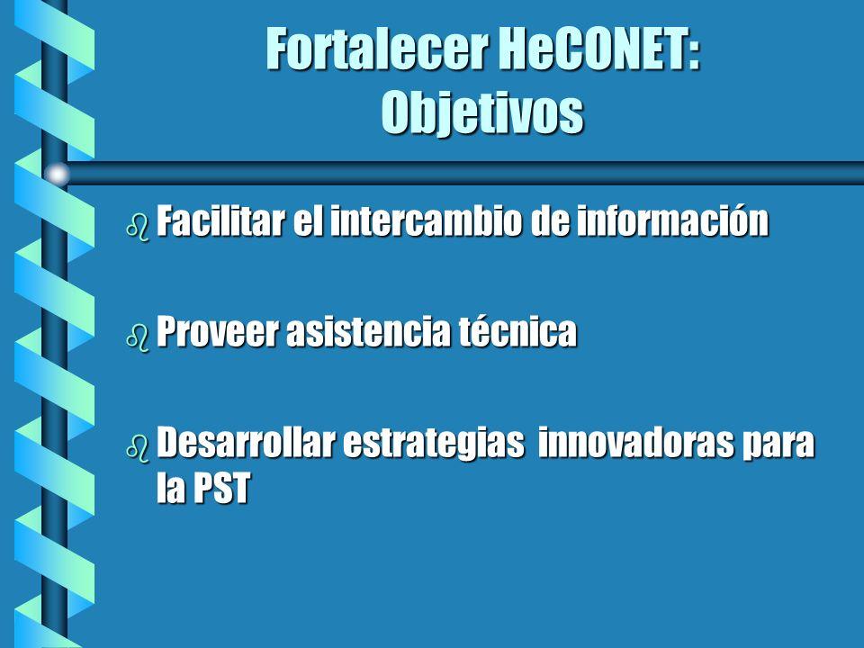 Fortalecer HeCONET: Objetivos