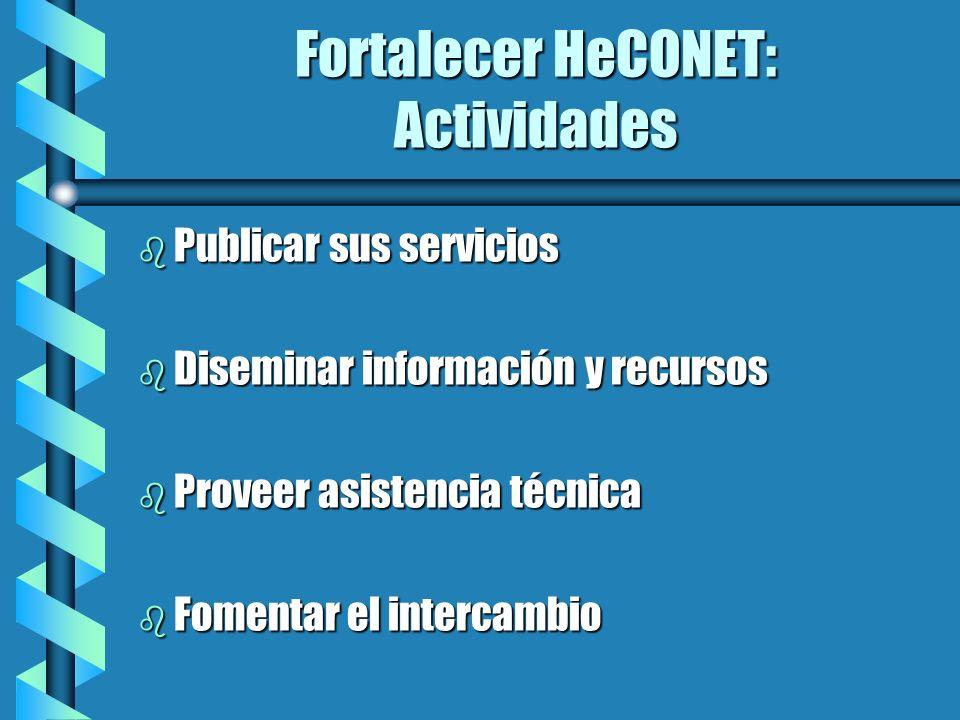 Fortalecer HeCONET: Actividades