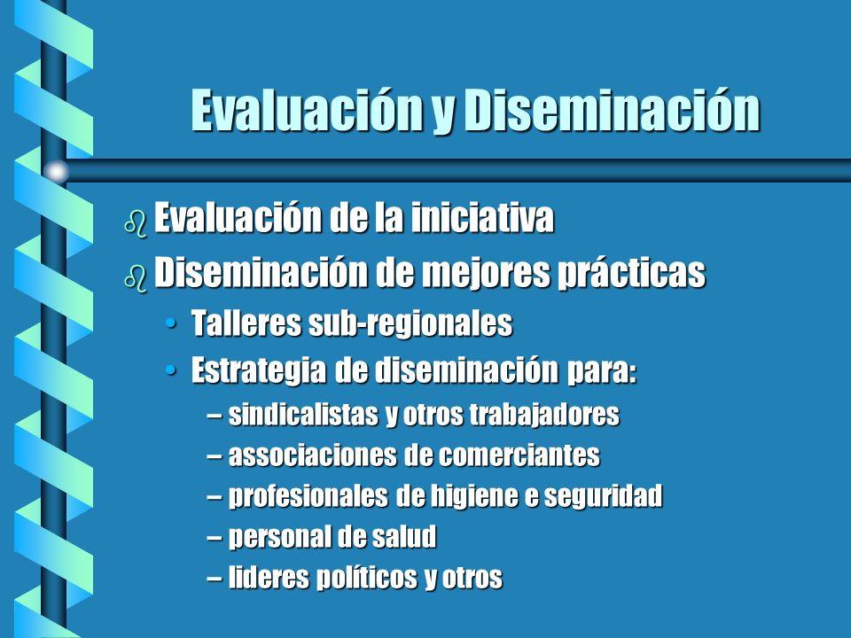 Evaluación y Diseminación