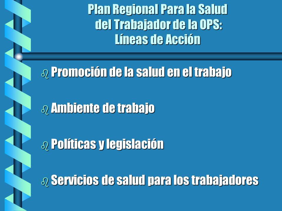 Plan Regional Para la Salud del Trabajador de la OPS: Líneas de Acción