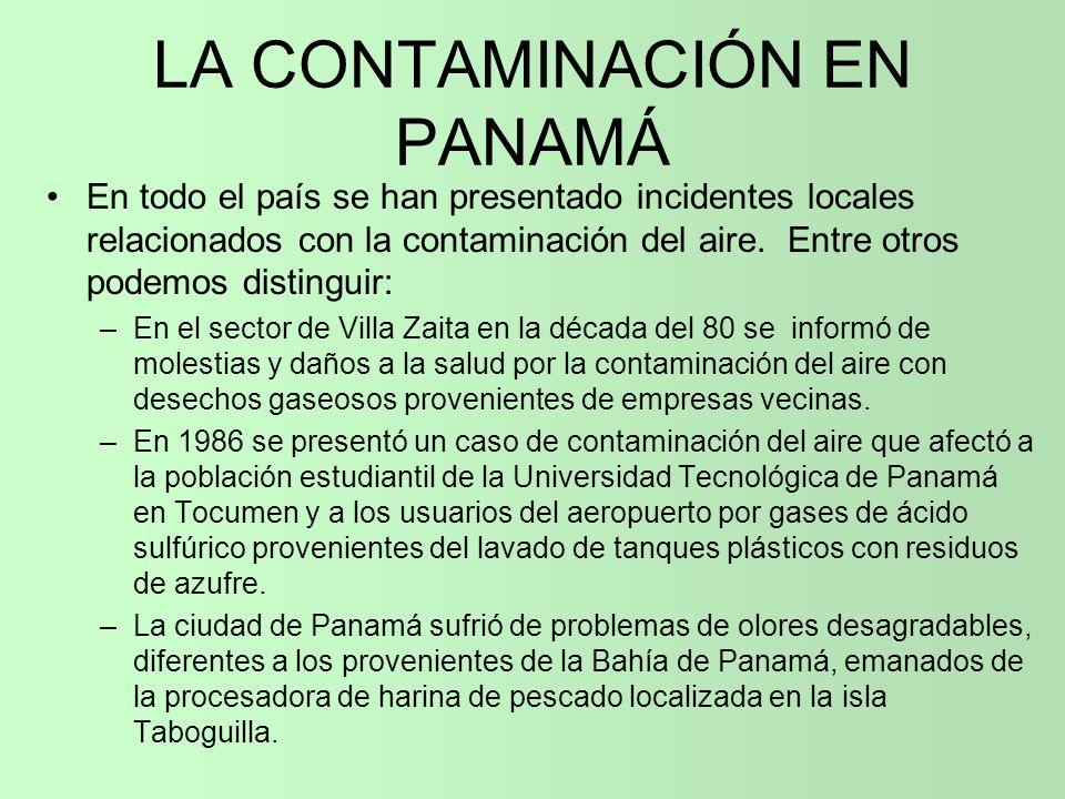LA CONTAMINACIÓN EN PANAMÁ