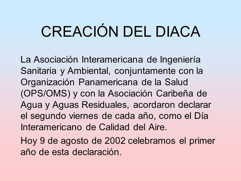 CREACIÓN DEL DIACA