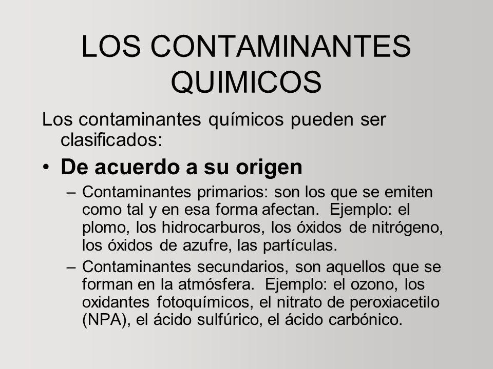 LOS CONTAMINANTES QUIMICOS