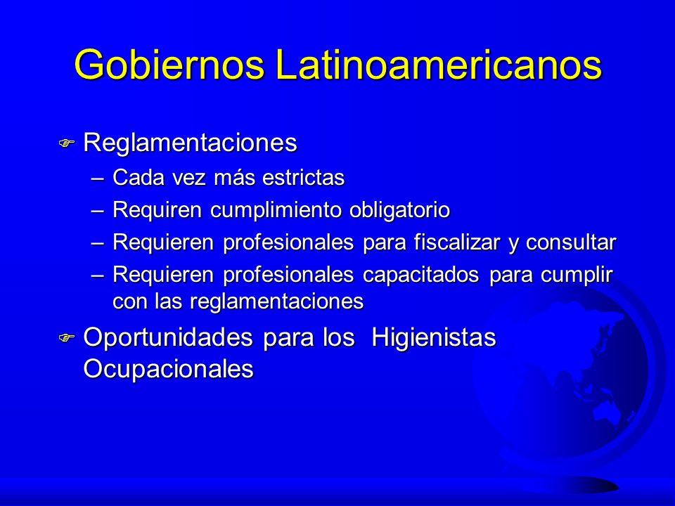 Gobiernos Latinoamericanos