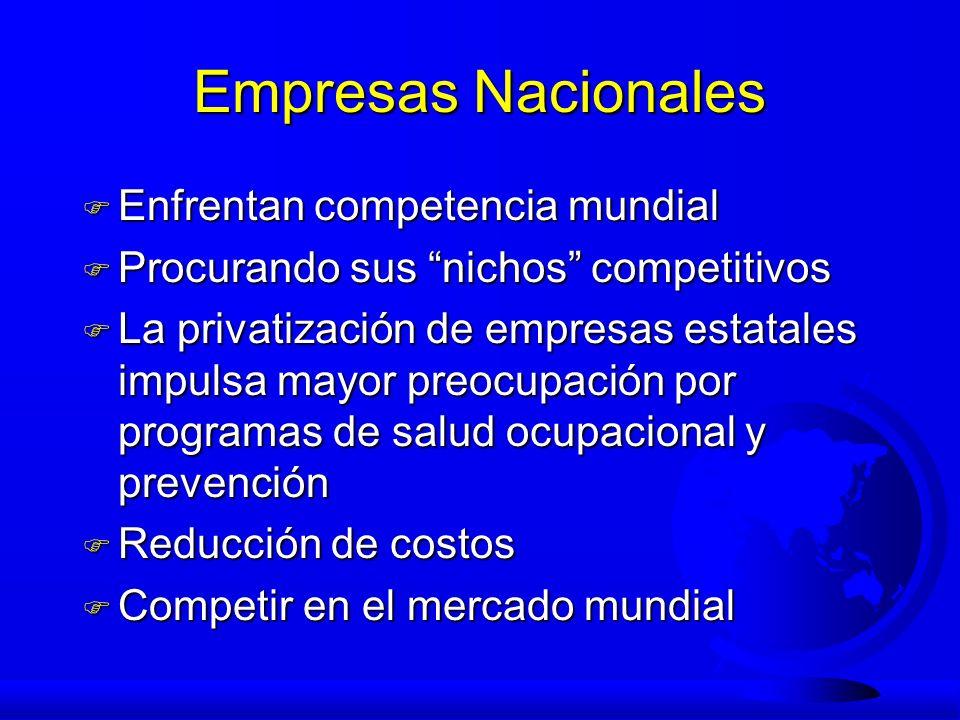 Empresas Nacionales Enfrentan competencia mundial