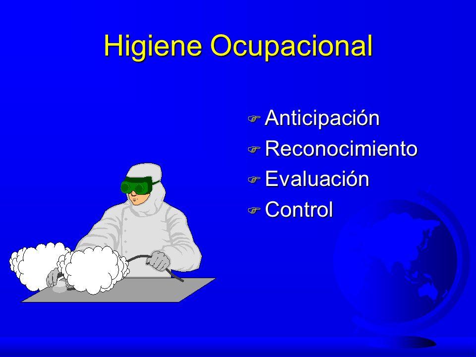 Higiene Ocupacional Anticipación Reconocimiento Evaluación Control