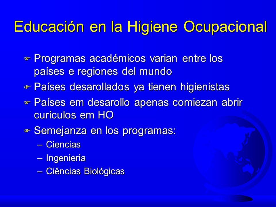 Educación en la Higiene Ocupacional