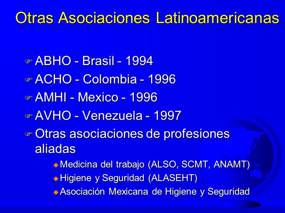Otras Asociaciones Latinoamericanas