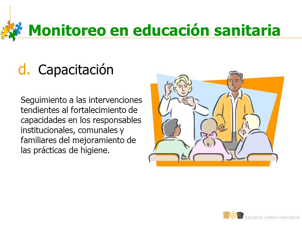 Monitoreo en educación sanitaria
