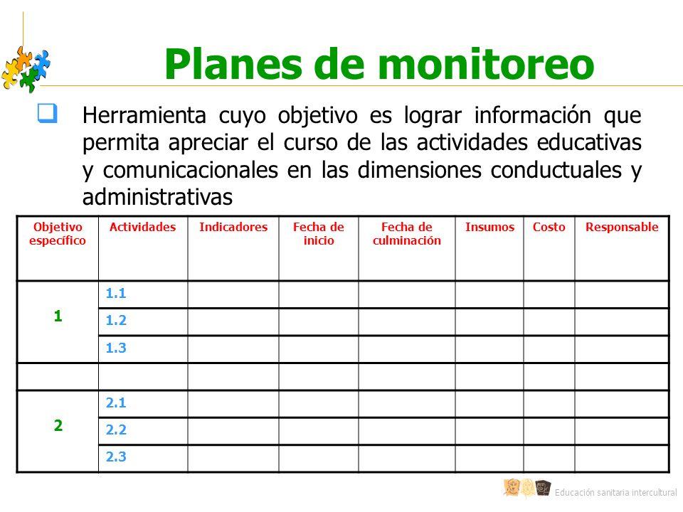 Planes de monitoreo