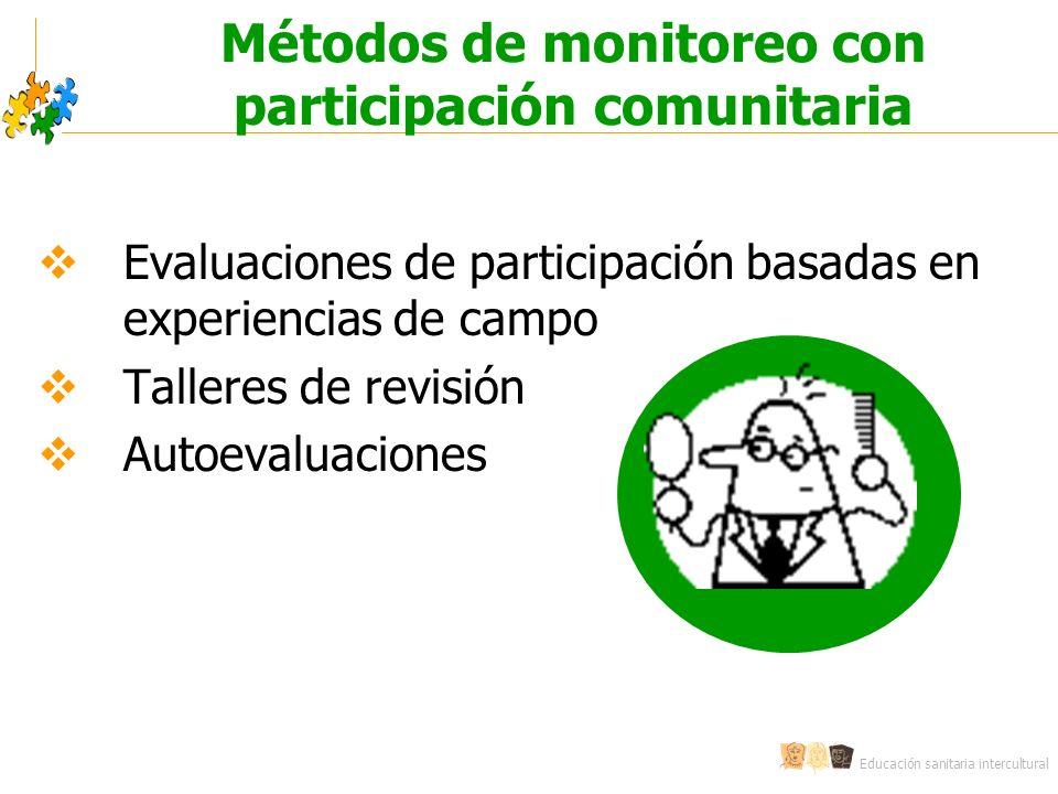 Métodos de monitoreo con participación comunitaria
