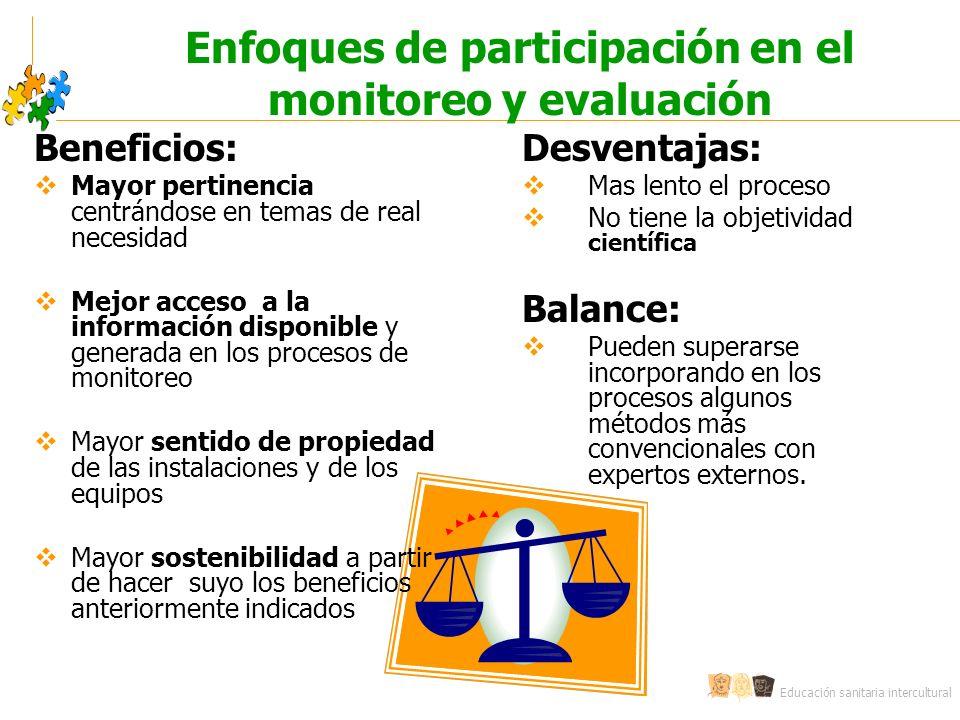 Enfoques de participación en el monitoreo y evaluación
