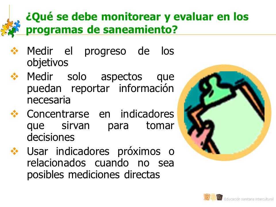 ¿Qué se debe monitorear y evaluar en los programas de saneamiento