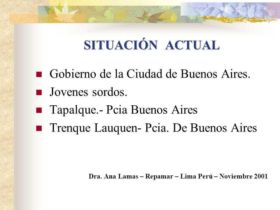 SITUACIÓN ACTUAL Gobierno de la Ciudad de Buenos Aires.