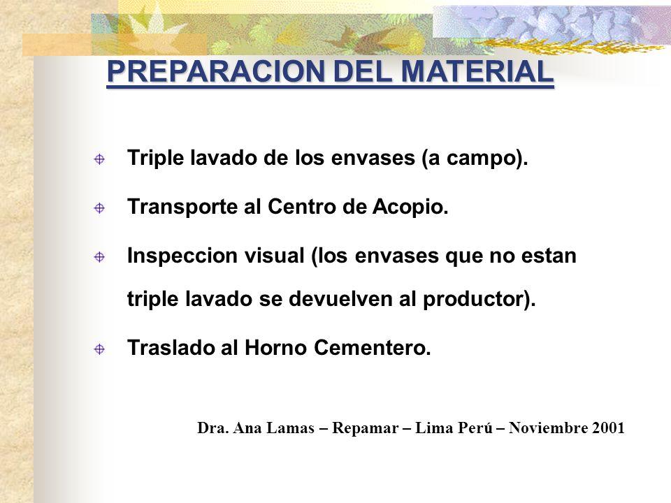 PREPARACION DEL MATERIAL