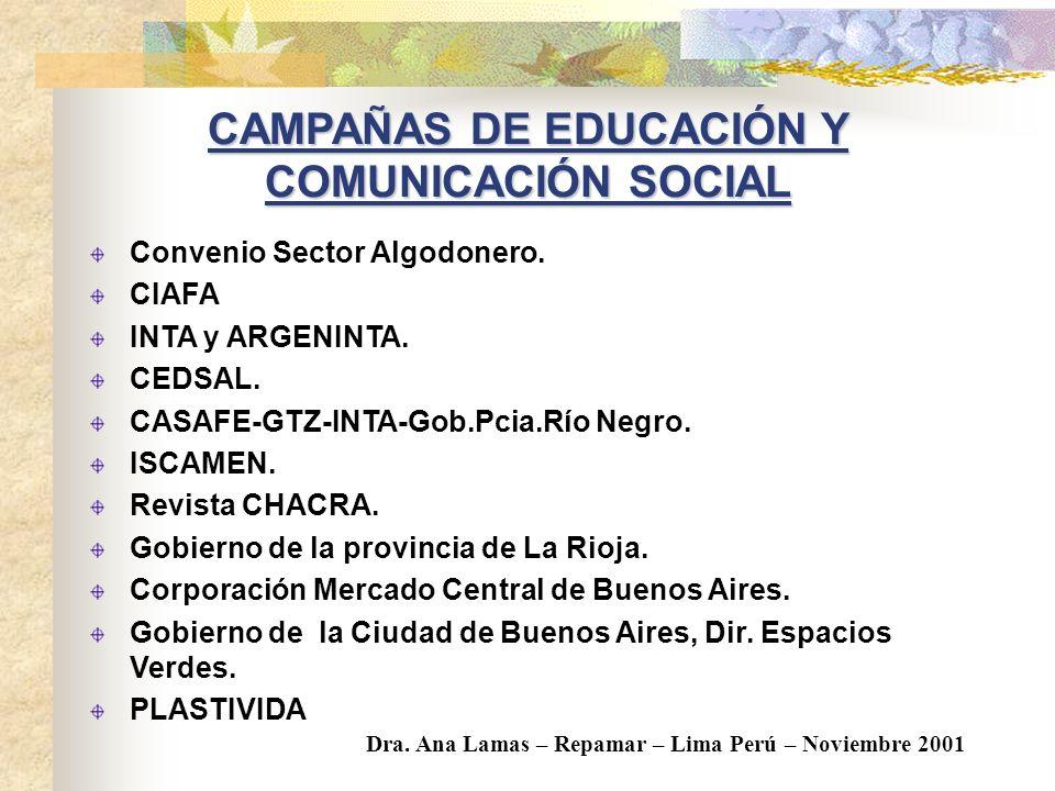 CAMPAÑAS DE EDUCACIÓN Y COMUNICACIÓN SOCIAL