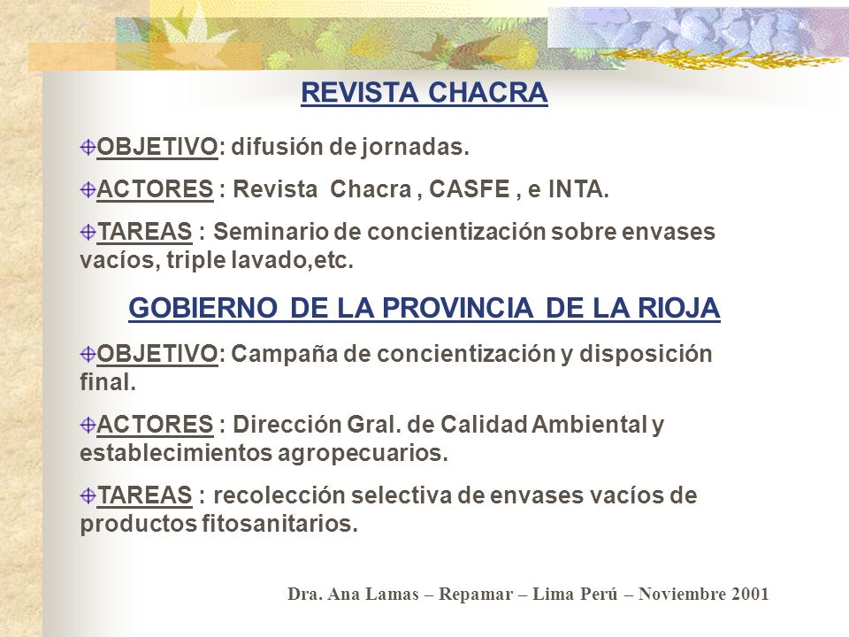 GOBIERNO DE LA PROVINCIA DE LA RIOJA