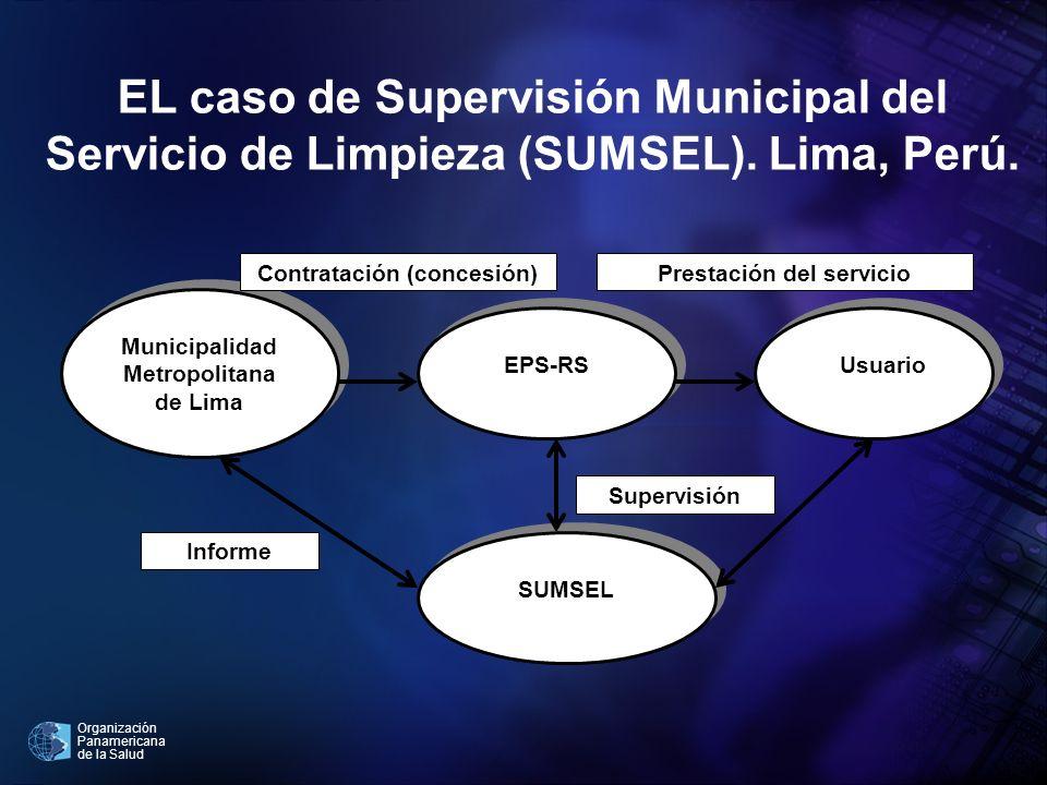 EL caso de Supervisión Municipal del Servicio de Limpieza (SUMSEL)