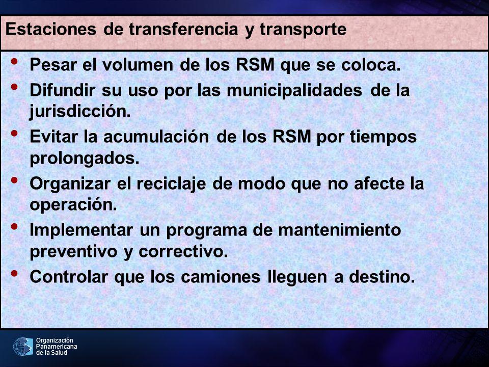 Estaciones de transferencia y transporte