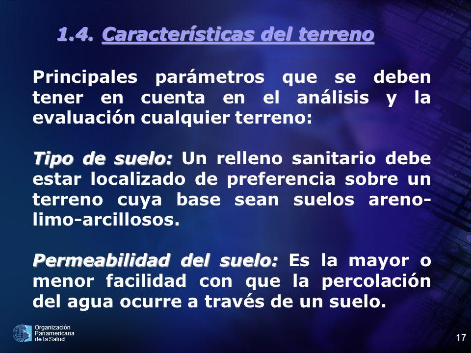 1.4. Características del terreno