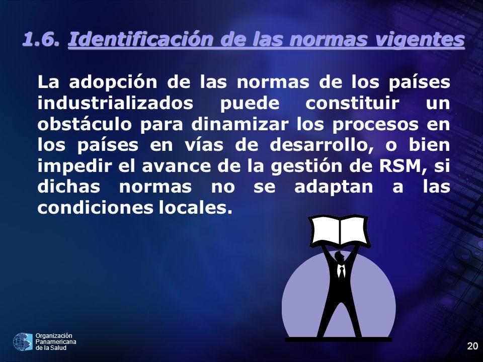 1.6. Identificación de las normas vigentes