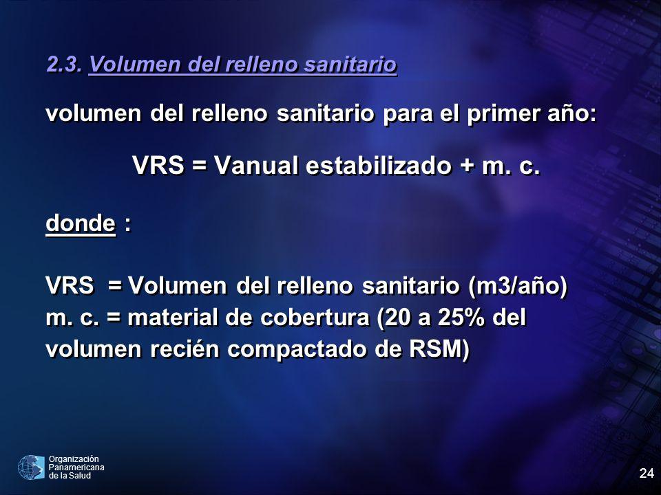 VRS = Vanual estabilizado + m. c.