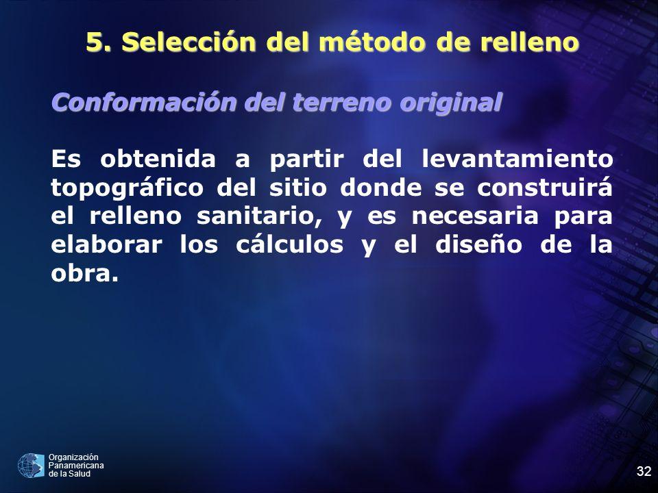 5. Selección del método de relleno