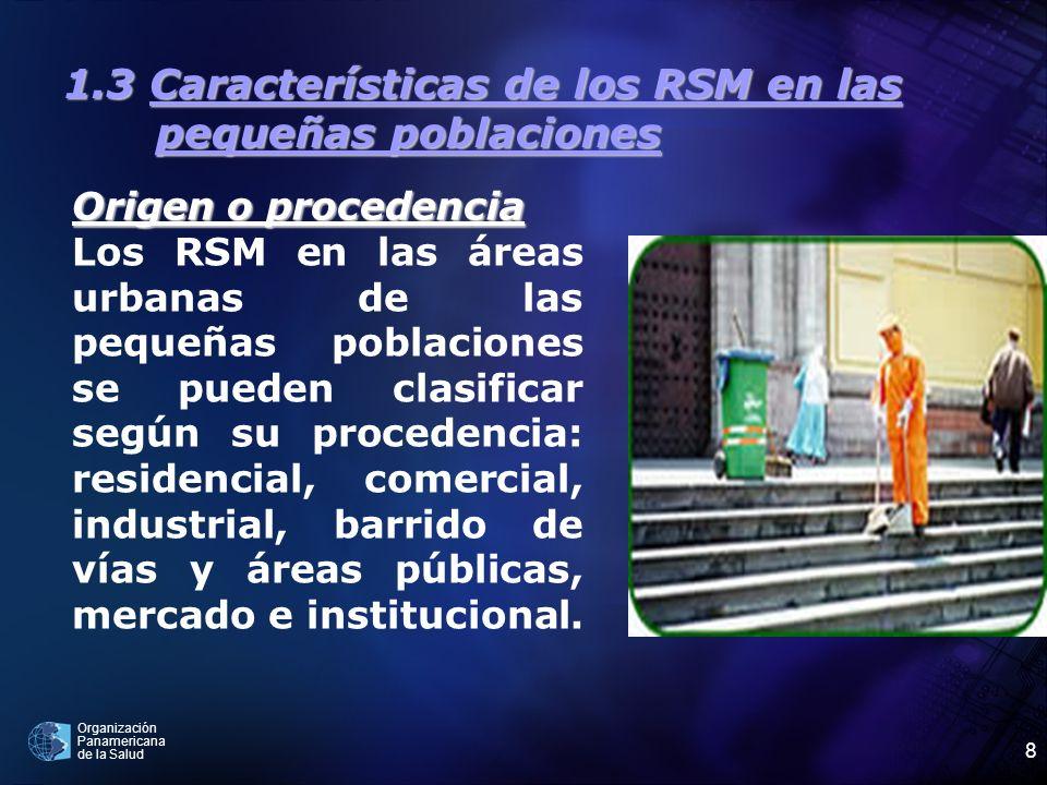 1.3 Características de los RSM en las pequeñas poblaciones