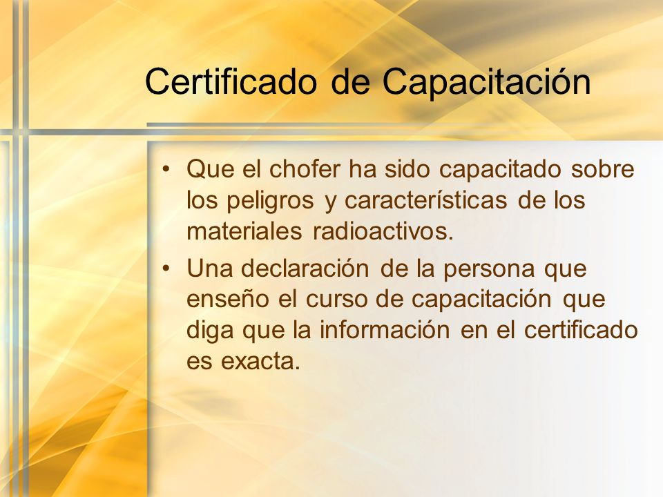 Certificado de Capacitación