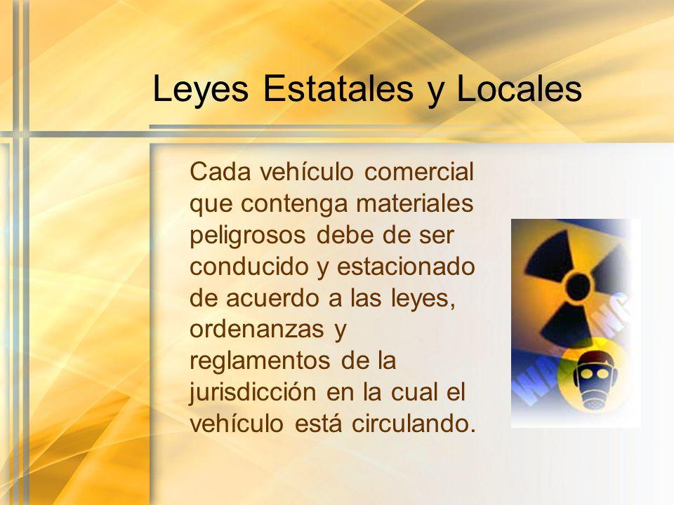 Leyes Estatales y Locales