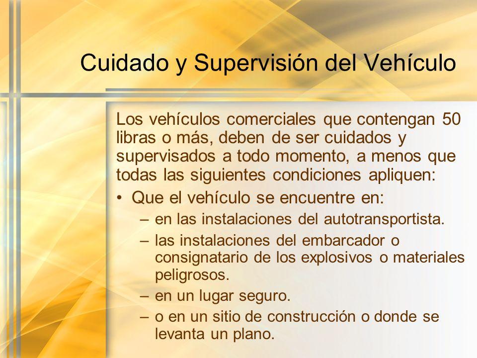 Cuidado y Supervisión del Vehículo